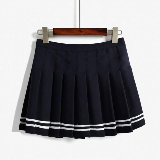 2018 New Summer Korean High Waist Mini Pleated Skirt British Style Collegeeavengifts-eavengifts