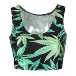 Summer Sexy Women's Vest Maple Leaves Pattern Women Tee Short Tank Topeavengifts-eavengifts