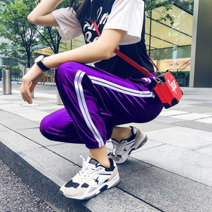 Pants Women Striped Casual Harajuku Gothic Women Harem Ankle-Length Sporting Pantseavengifts-eavengifts