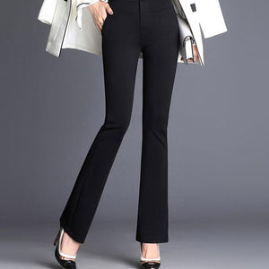 Women's Solid Formal Long Flare Pants Office Lady High Waist Plus Sizeeavengifts-eavengifts