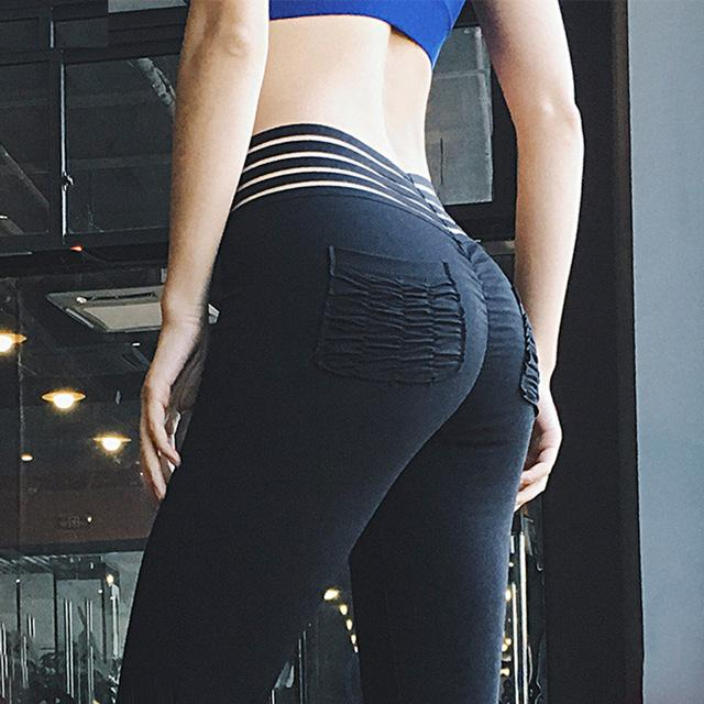 High Wasited Women Skinny Pants Hip pocket Fitness Leggings Sexy push upeavengifts-eavengifts
