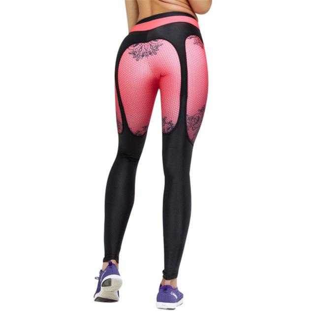 Punk Printed leggings Women Fitness clothing Booty Push Up Garter Pattern Legginseavengifts-eavengifts