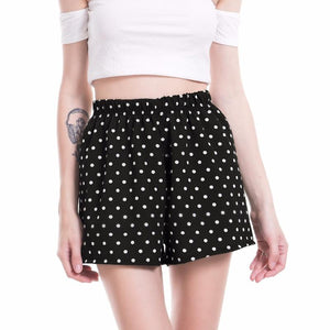 VISNXGI Casual Polka Dot Tailored Shorts Women Summer Mid Waist Printed Wideeavengifts-eavengifts