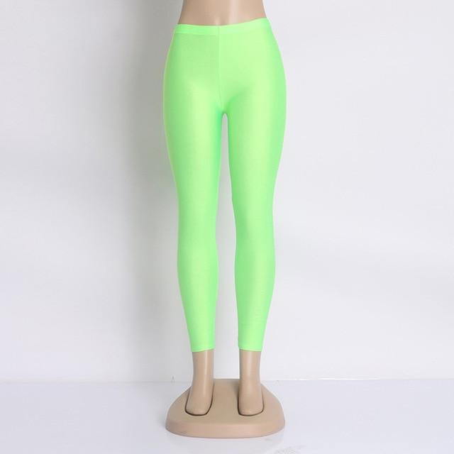 Hot Sale 2018 Candy Colors Fashion Fluorescent Leggings 20 Solid Color Womeneavengifts-eavengifts