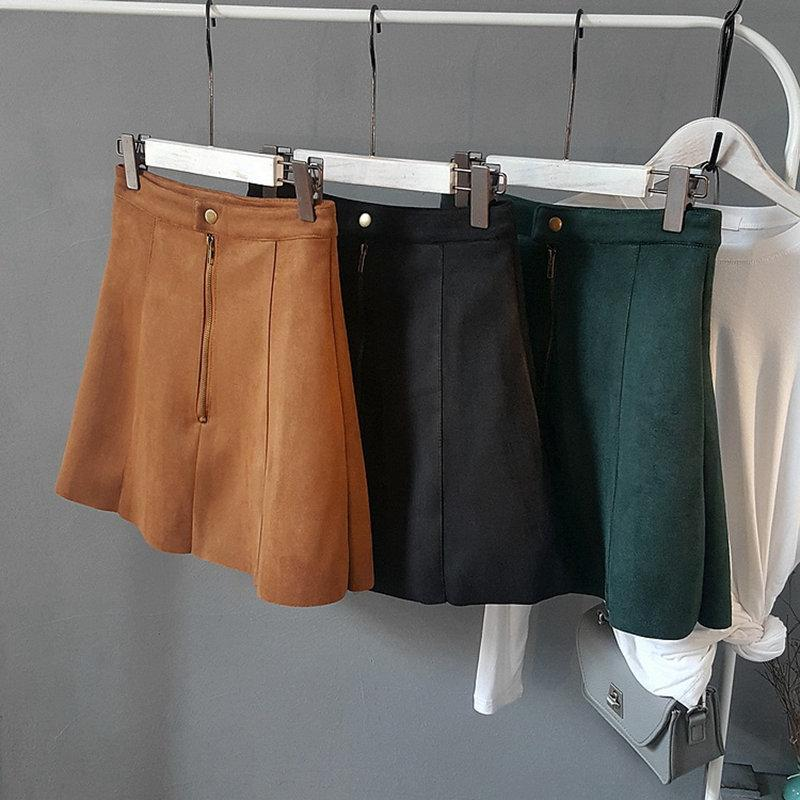 Winter Pencil Skirts Office Lady School Women Leather Skirts High Waist A-Lineeavengifts-eavengifts