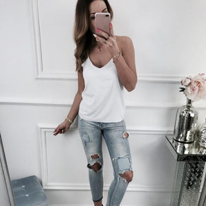 Sexy Women Strap Tank Tops Vest Satin Lace Camisole Silky Camis Silkeavengifts-eavengifts