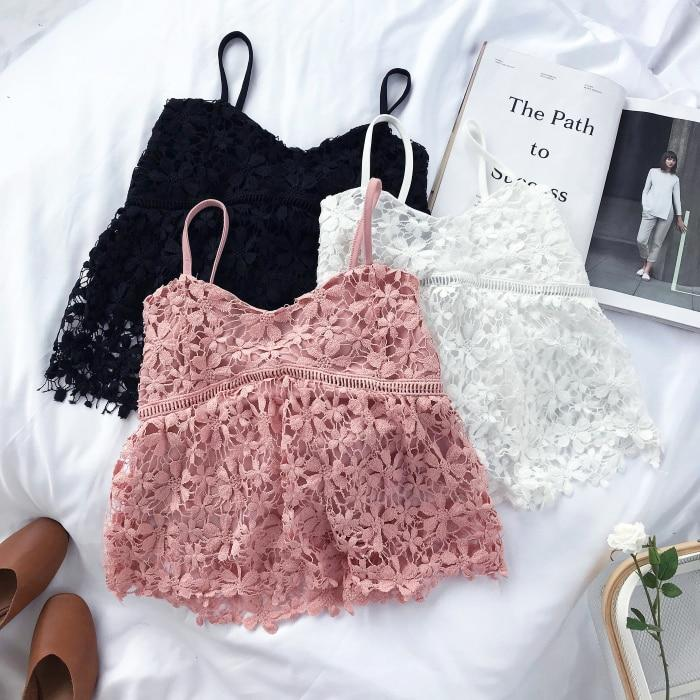 2018 Summer Women Crop Tops White Pink Black New Korean Fashion Sexyeavengifts-eavengifts