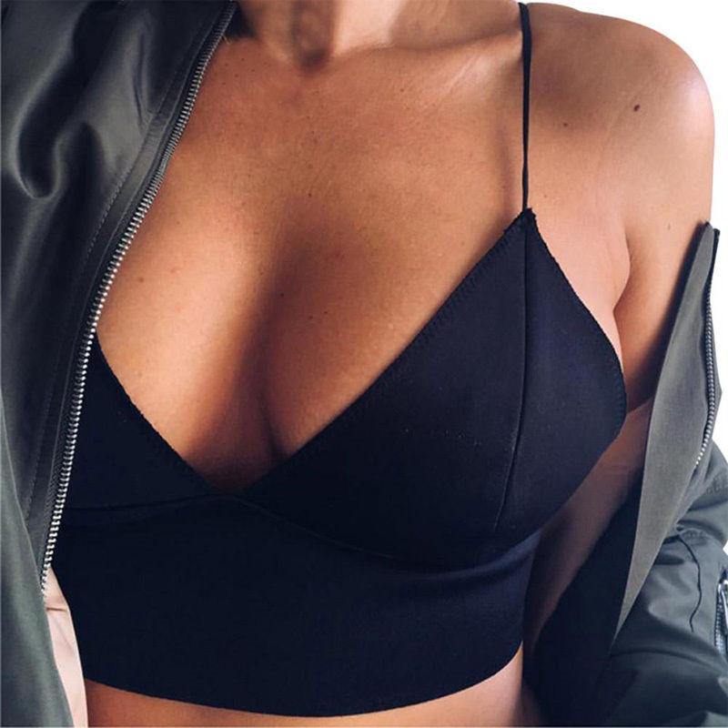 Women Summer Black Camis Sexy Crop Tops Lady UnPadded Bra Tops Bustiereavengifts-eavengifts