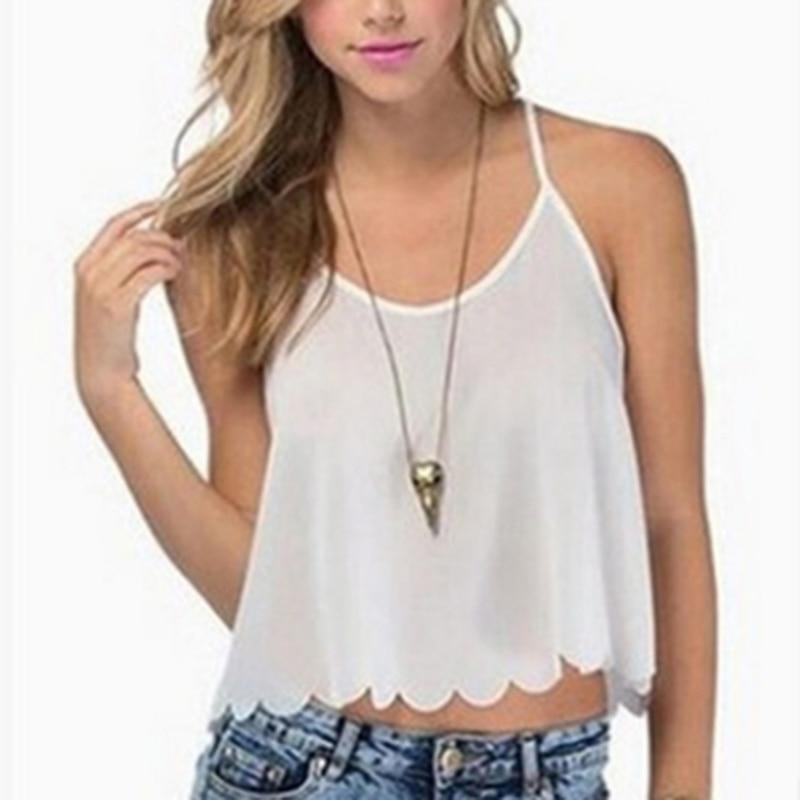 Wavy Edge Fashion Sexy Basic Shirt Women Camis Tops Summer Sleeveless Haltereavengifts-eavengifts