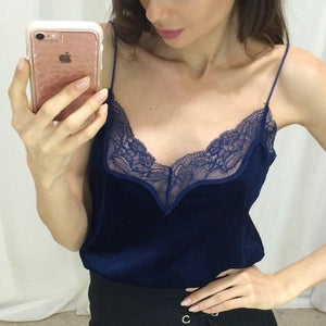 2018 Summer New Fashion Women Tops Sexy Lace V-Neck LadiesTank Top Sleevelesseavengifts-eavengifts