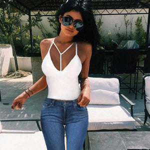 2018 Sexy Bra Crop Tops Summer Y Strap Bustier Slim Fitting Tankeavengifts-eavengifts