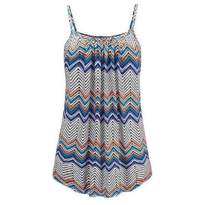 Plus Size 6XL Tank Top Women 2018 Summer Cami Striped Print Tankseavengifts-eavengifts