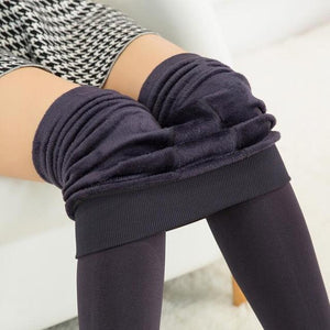 Winter Warm Velvet Thick Skinny Pants Women Plus Size High Waisteavengifts-eavengifts