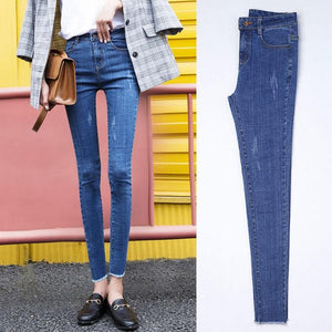 free shipping trousers Jeans for women Pencil pants high waist jeans fashioneavengifts-eavengifts