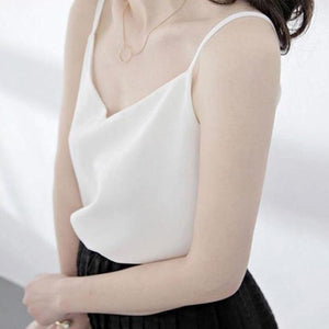 big size S-4XL women female chiffon camis top black white red blueeavengifts-eavengifts