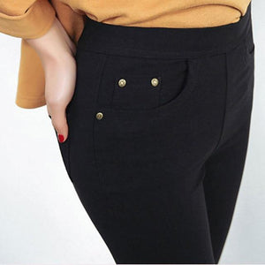 2018 Winter Plus Size 6XL Leggings Women Pants Black Punk Thickeavengifts-eavengifts