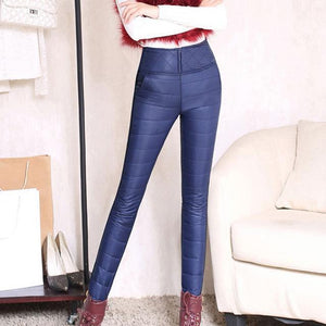 Winter High Waisted female Fashion Causal Slim Outer Wear Warm Pencil Panteavengifts-eavengifts
