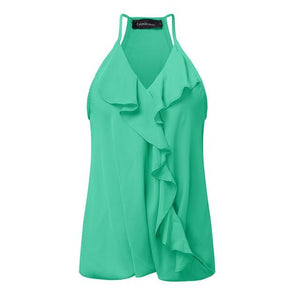 Summer Tank Tops 2018 Sexy Off Shoulder Ruffle Blouse Casual Strapeavengifts-eavengifts