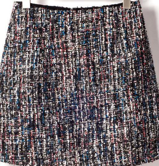 2018 New Winter Style Small Sequins Tweed Mini Skirt Elegant High Waisteavengifts-eavengifts