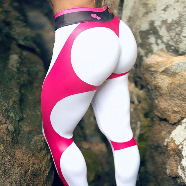 Fitness Heart Hip Print Women Push Up Leggings 2018 New Female Fitnesseavengifts-eavengifts