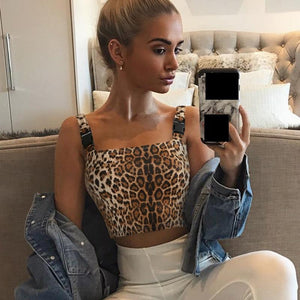 Sexy Leopard Party Top Mujer Streetwear Backless Femme Summer 2018 Tank Topeavengifts-eavengifts