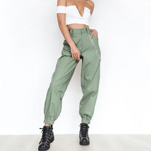 2018 Summer Female High Waist Harem Pants Women Fashion Slim Solideavengifts-eavengifts