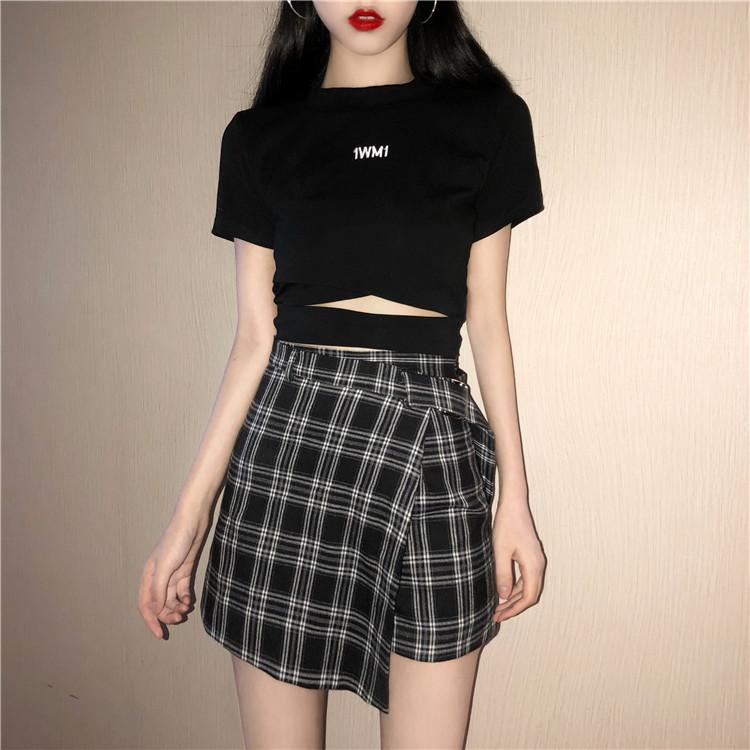 2018 Summer Women Skirt Plaid A-Line High Waist Casual Fashion Kawaii Studenteavengifts-eavengifts