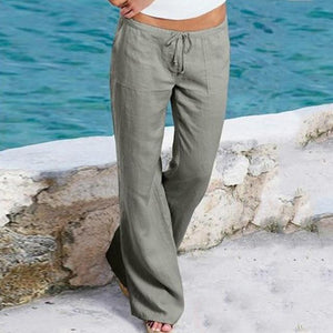 ZEAZEA 2018 New Linen Trousers Women Wide Leg Pants With Pockets Ladyeavengifts-eavengifts
