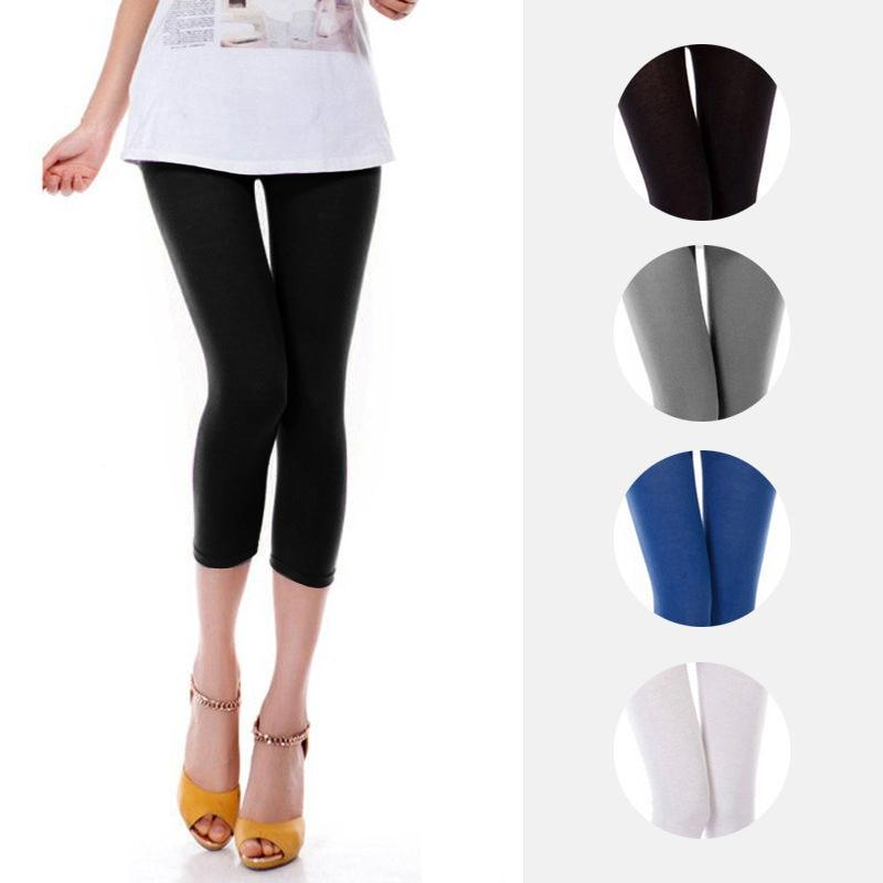 2018 Summer Style Candy Color Women Cropped Leggins 3/4 Length Lady Legginseavengifts-eavengifts