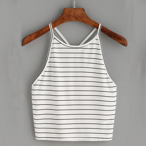 Women Striped Tank Top Fashion Sexy Sleeveless Shirt TopsAUG21eavengifts-eavengifts