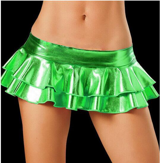 2019 Sexy LaTeX Skirt Women Pole Dancing Club Wear Short Skirts 5eavengifts-eavengifts