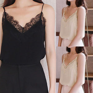 NewHigh Recommend Womens Ladies Casual Lace Sleeveless Vest Shirt Tank Blouse Topseavengifts-eavengifts