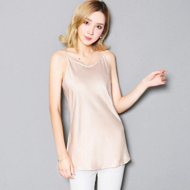 Sexy Silk Satin Casual Female Camis Slim Top Plus Size Sleevelesseavengifts-eavengifts