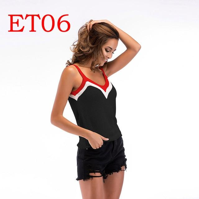 2018 women's European and American summer straps tube top sleeveless shirt women'seavengifts-eavengifts