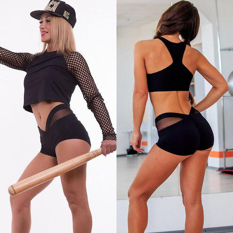 2018 Brand New Women's Yogawear Shorts Mesh Matching Sportswear Fitness Skinny Stretcheavengifts-eavengifts