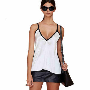 V Neck Solid Cami Top Spaghetti Strap Casual Sexy Summer Casual Slimeavengifts-eavengifts