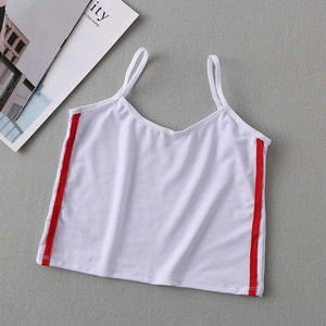 Striped Sleeveless Camisole Crop Top Soft Cotton Women Sexy Short Vest Comfortableeavengifts-eavengifts
