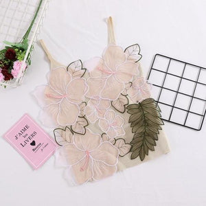 2018 Sexy V Neck Flower Embroidery Knitted Camis Women Sexy 3D Flowereavengifts-eavengifts