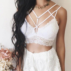 2018 Lace Sexy Women Tops Vest New Fashion Women Floral Braletteeavengifts-eavengifts