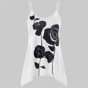 Fashion Womens Sexy Beach Camis 2018 Summer New Arrival Casual Rose Floraleavengifts-eavengifts