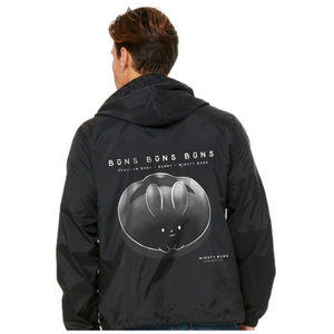 Buns Black Windbreaker Hooded Jacket [PreOrder]