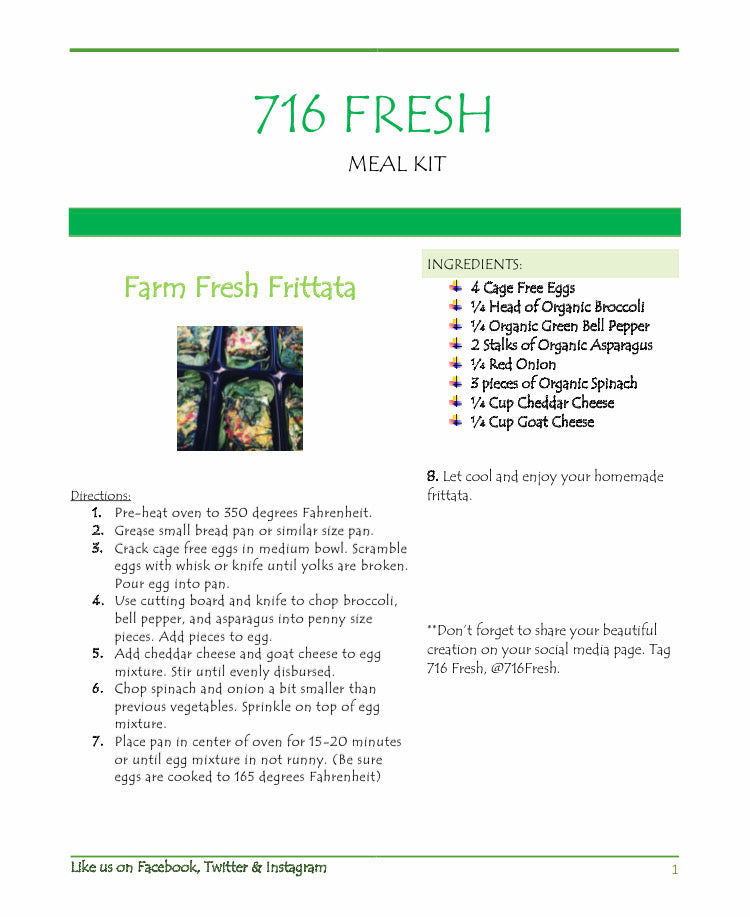 716 Fresh Meal Kits