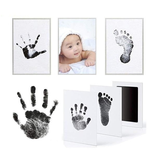Footprint Imprint Kit Baby Ink Pad Storage Memento Ink Newborn Photo Frame Kits