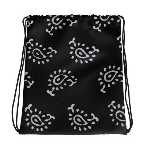 Shop Back and white Drawstring bag | Women's Handbags - TheVirasat - Home Furnishings Textile Exporter