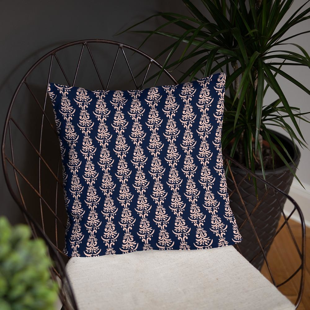 Soft Floral Motifs Decorative Throw Pillow