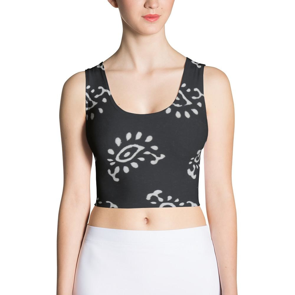 Black and White Design Sublimation Cut & Sew Crop Top