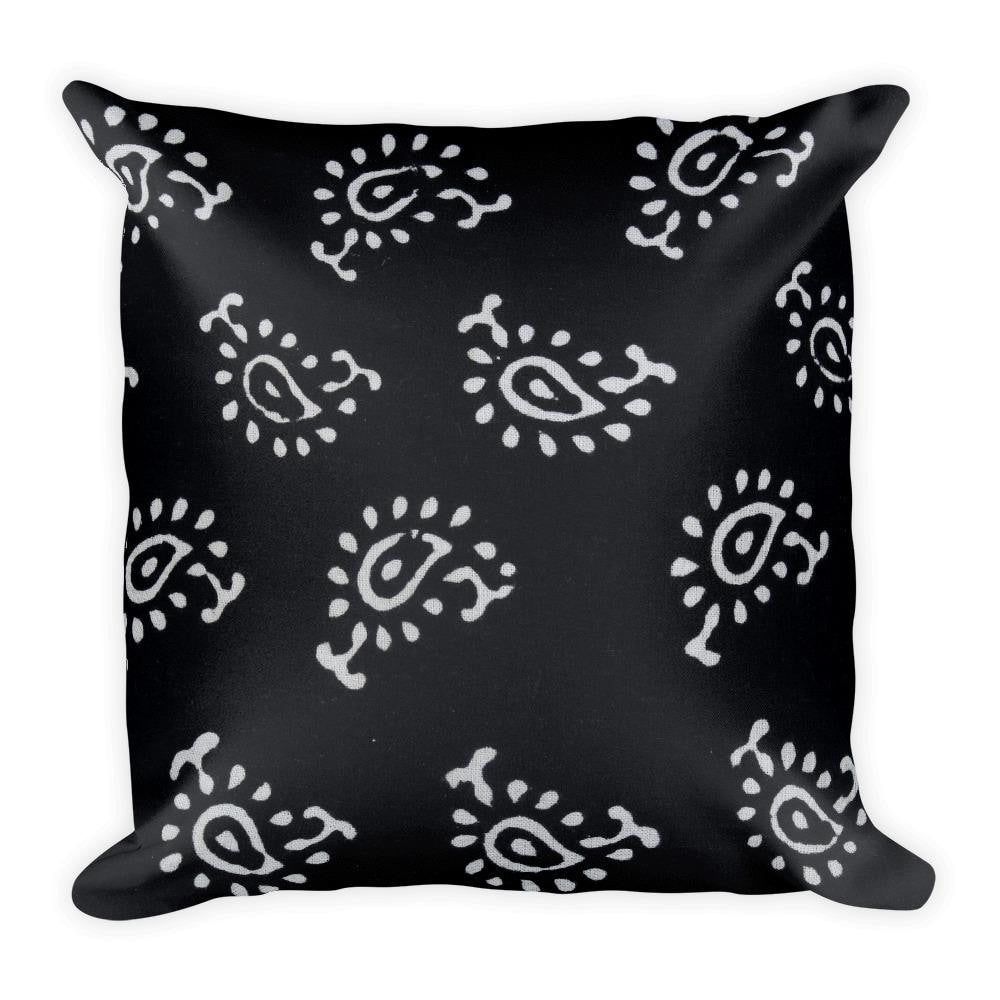 Black and White Designer Square Pillow - Printed - TheVirasat - Home Furnishings Textile Exporter
