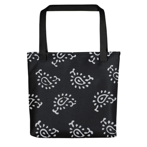 Buy Online Black and White Motifs Tote bag - TheVirasat - Home Furnishings Textile Exporter