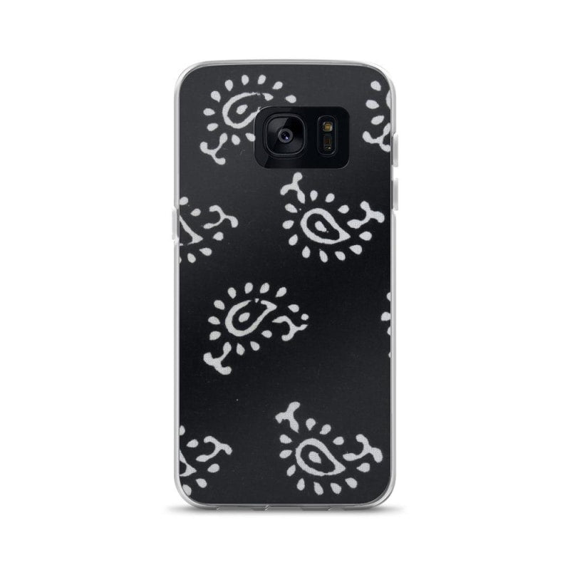 Black And White Self Design Samsung Case - Samsung Galaxy S7