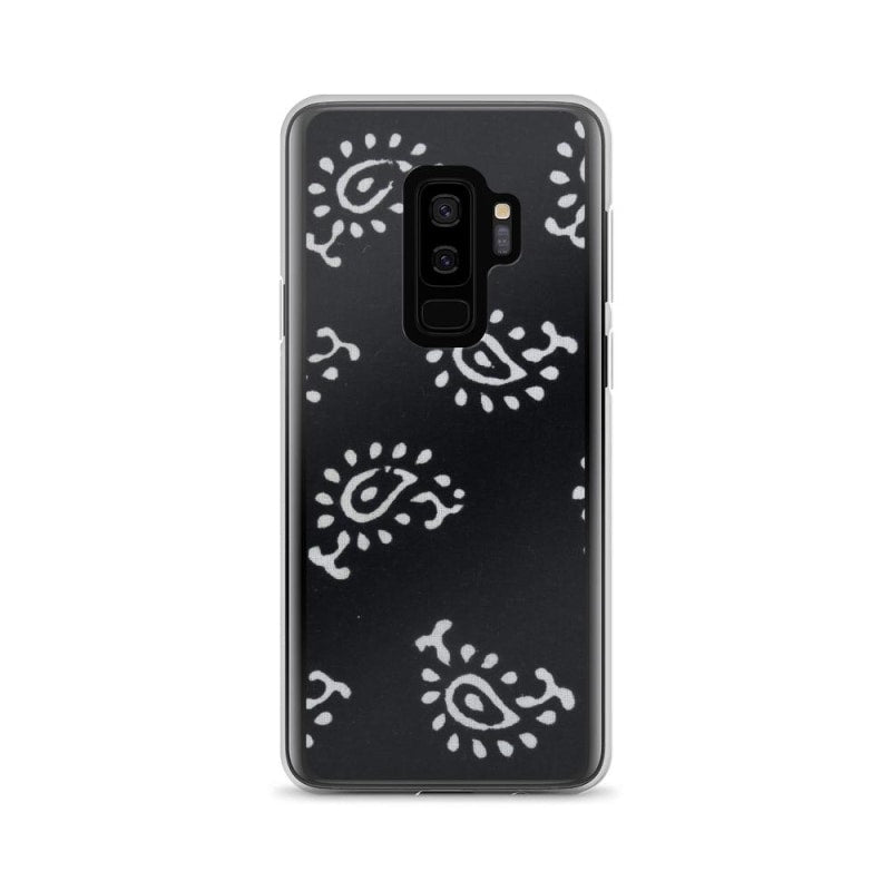 Black and White Self Design Samsung Case - TheVirasat - Home Furnishings Textile Exporter